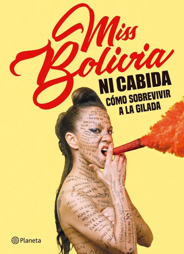 Miss Bolivia. Tapa de libro.