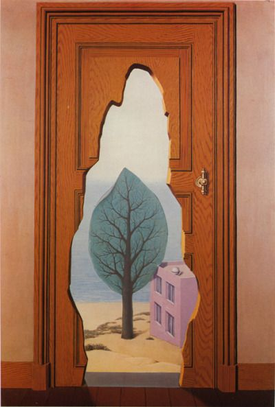 """Rene Magritte. """"The Amorous Perspective"""", 1935."""