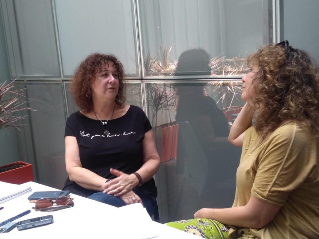 Carmen Guarini con el Anartista. Fotografía: Viviana García Arribas.