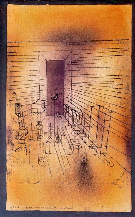 "Paul Klee. ""Ghost Room with large doors, 1925."