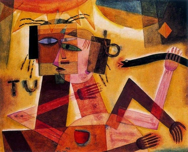"""Xul Solar. """"Tú y yo"""" Acuarela sobre papel, 1923."""
