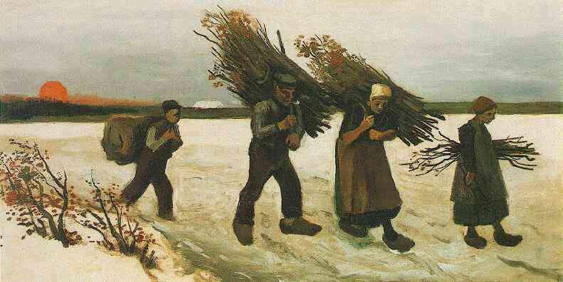 Van Gogh, Recolectores de leñ en la nieve (1884)