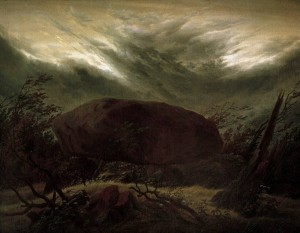 Megalithic tomb in Autumn - Caspar David Friedrich