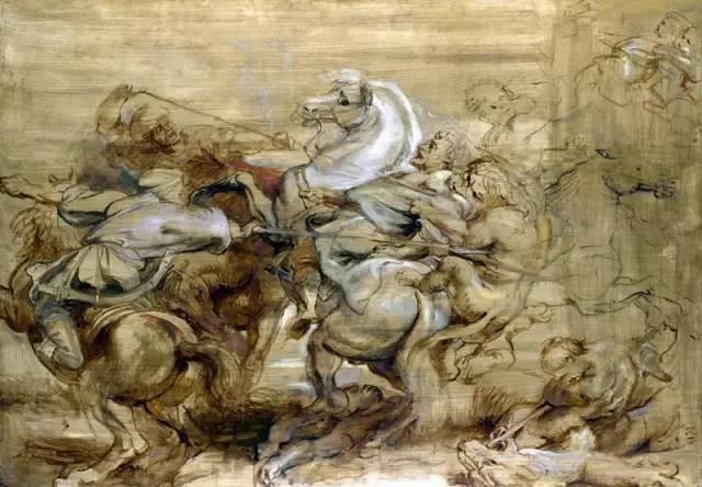 Un león cazar. Peter Paul Rubens