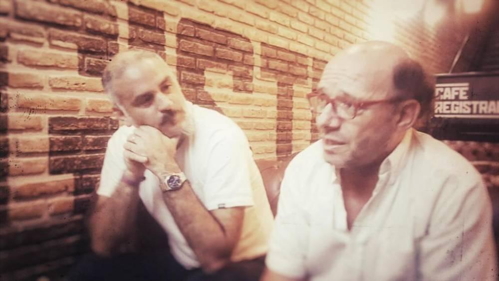 Ezequiel Fernández Moores con Nicolás Sada (el Anartista).