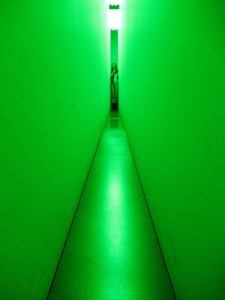 Intervención lumínica - Guggenheim