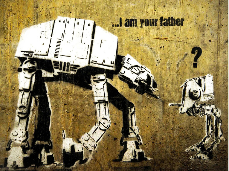 "Bansky. ""I am your father."""