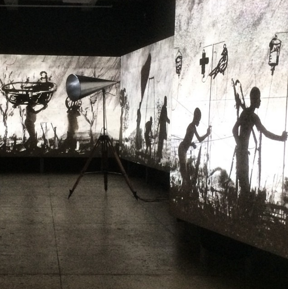"William Kentridge. ""More Sweetly Play the Dance"", 2015."