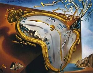 Salvador Dalí - Reloj blando en el momento de su primera explosión (1954)