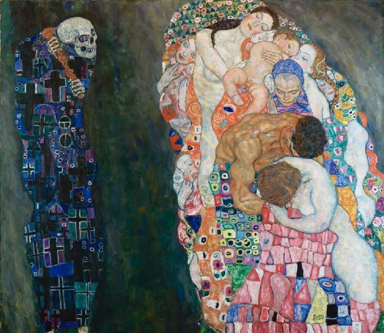 """Gustav Klimt. """"Muerte y vida."""""""