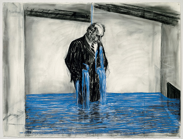 William Kentridge. Drawing from Stereoscope. 1998–99.