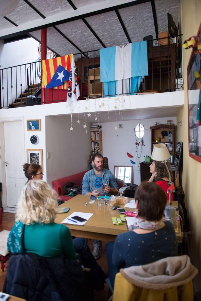 Benjamín Ávilacon el Anartista. Fotografía: Diego Grispo.