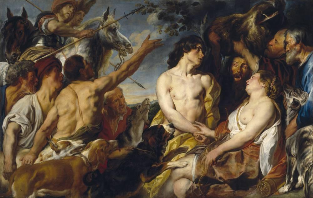 Jakob Jordaens, Meleager and Atalanta, óleo sobre tela.