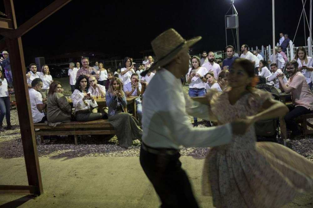 Primera noche. Una pareja baila un joropo. 15 de febrero de 2019,