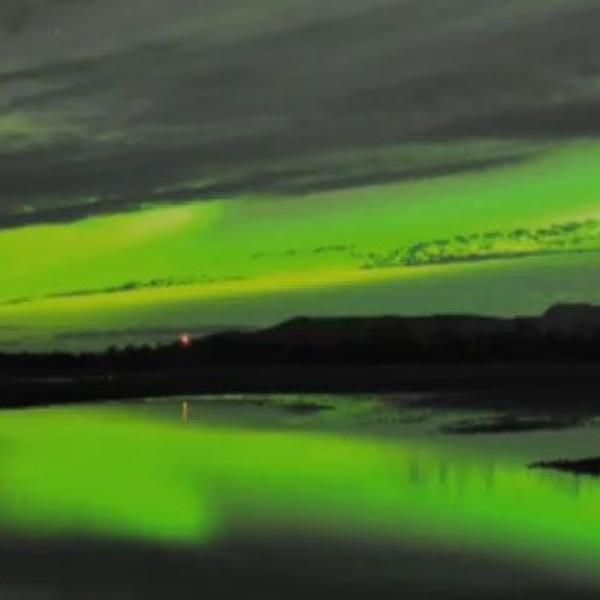 "Mark Rothko. ""Verde sobre morado"", pintura."