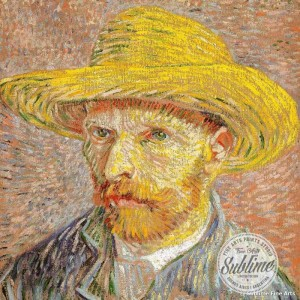 """""""Autorretrato con sombrero de paja"""" de Vincent Van Gogh"""