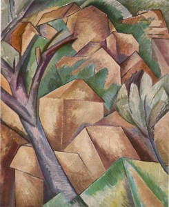 """Casas en el estaque"" de Georges Braque"