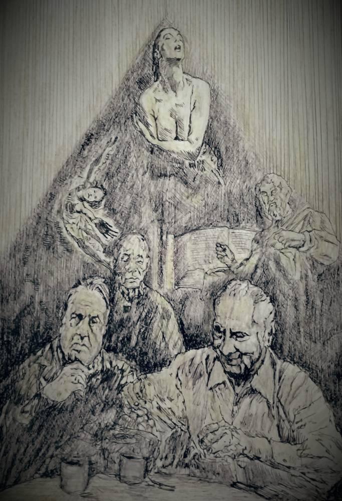 Orlando Flavio Cortés, ilustración al sueño de Jorge Alemán.