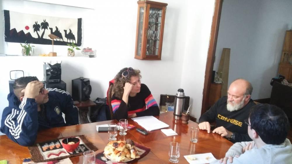 Sergio Maldonado y  Andrea Antico con el Anartista.