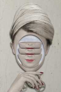 Retrato surrealista de una mujer