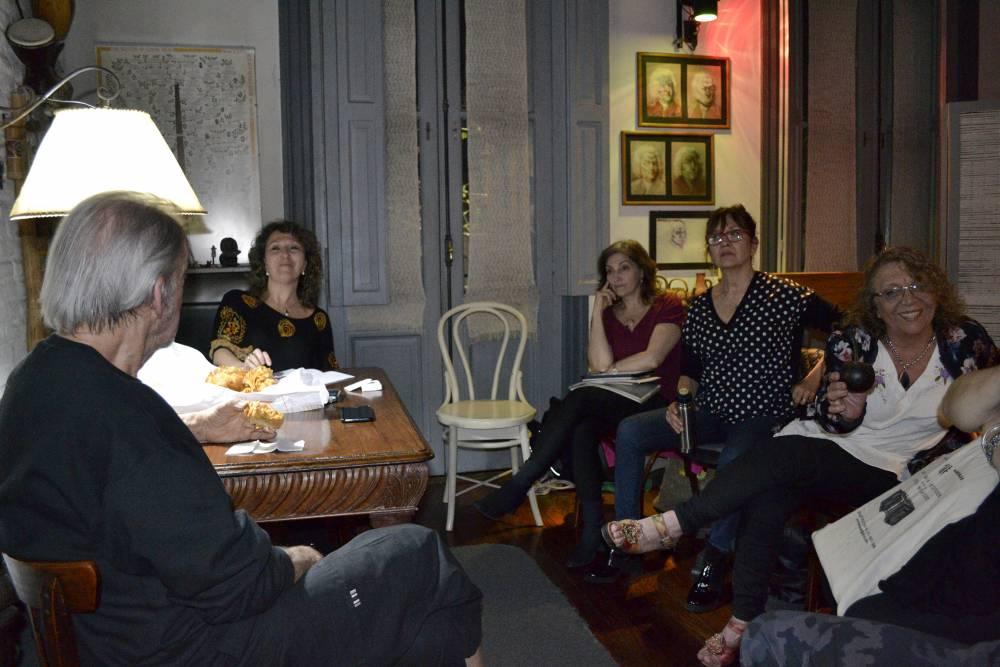 Rodolfo Mederos con el Anartista. Fotografía: Ana Blayer.
