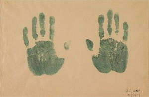 Empreinte des mains de l'artiste - Vassily Kandinsky