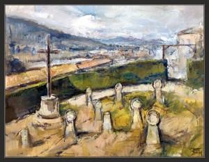 """Cementerio medieval"" de Ernest Descals"