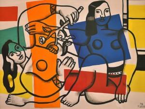 """""""Dos mujeres sosteniendo flores"""" de Fernand Léger"""