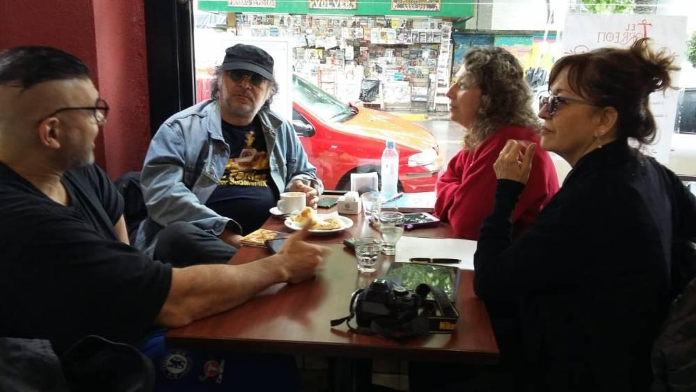 Pedro Saborido con el Anartista. Fotografía: Ana Blayer.