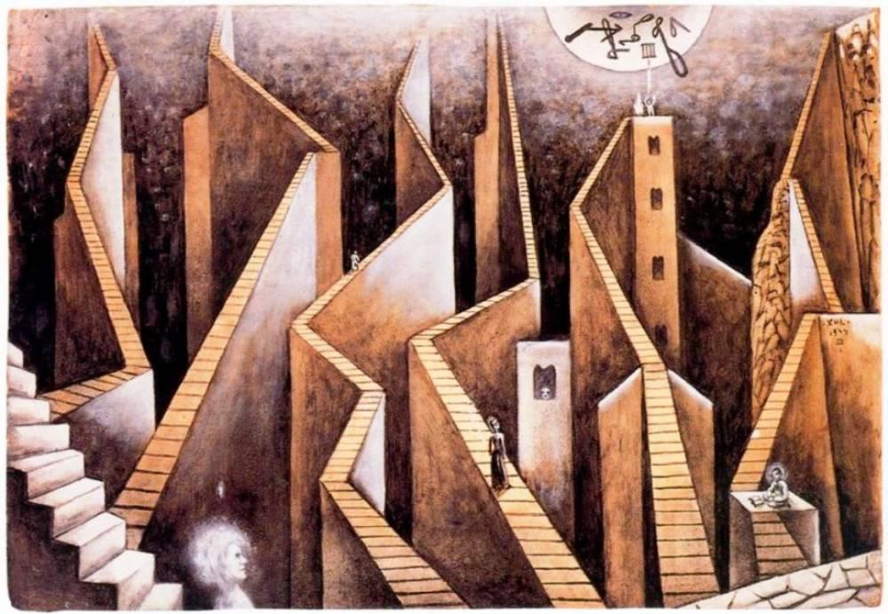 """Xul Solar. """"Muros y escaleras""""."""