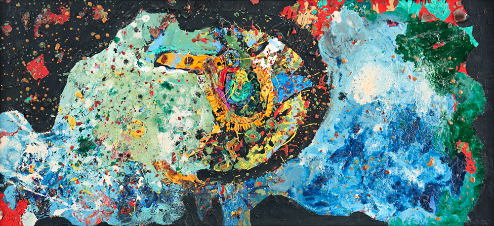 "Niki de Saint Phalle. ""Abstract-composition"""