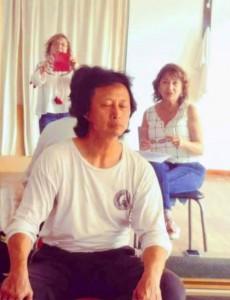 Liu Ming con El  Anartista. Fotografía: Estela Colángelo