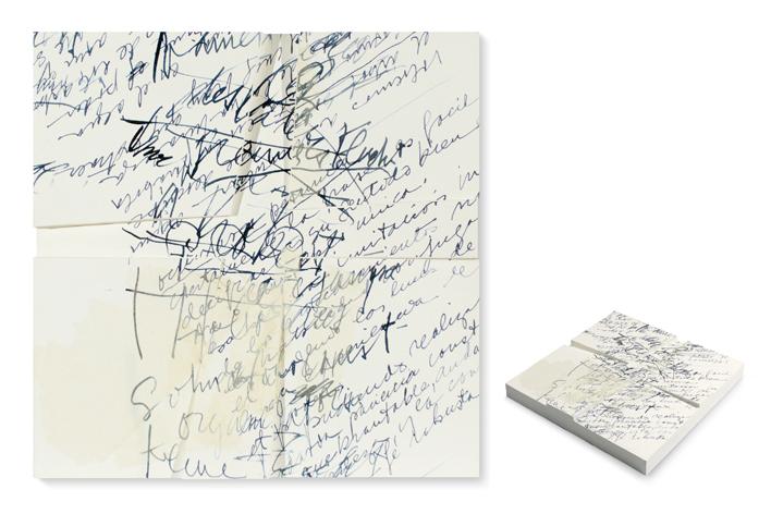 """Mabel Rubli. """"Escrituras II"""". Ténica mixta, 2008. Fotografía: Julieta Steimberg."""