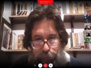 Eduardo Rinesi con El Anartista
