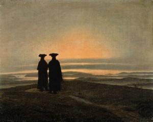 Paisaje nocturno con dos hombres, Caspar Friedrich