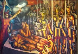 Tormento de Cuauhtémoc - David Alfaro Siqueiros