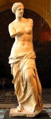 Estatua de la Venus de Milo, descubierta en el siglo XIX.